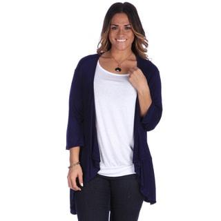 24/7 Comfort Apparel Women's Jersey Knit Plus-size Open Shrug