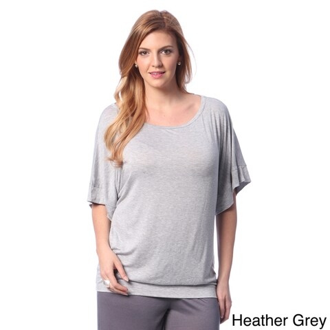 24/7 Comfort Apparel Women's Plus Size Dolman Sleeve Casual Top