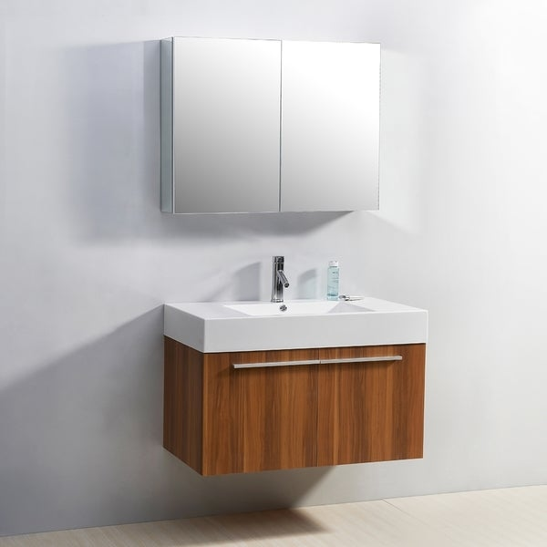 Virtu usa midori 36 inch single sink bathroom vanity set for Virtu usa caroline 36 inch single sink bathroom vanity set