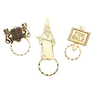 Detti Originals SPEC Pin Wizard/ Asereth ha-Dibroth/ For Sale 3-piece Spectacle Brooch Set