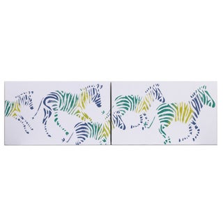 Cotton Tale 2-piece Zebra Romp Wall Art