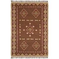 Hand Woven Bradford Jute and Wool Flat Weave Rug - 8' x 10'