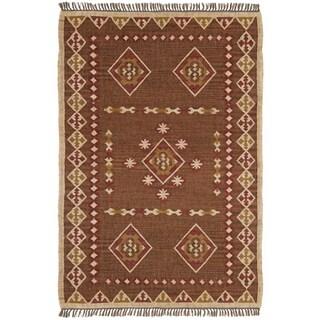 Hand Woven Bradford Jute and Wool Flat Weave Rug (9' x 12')