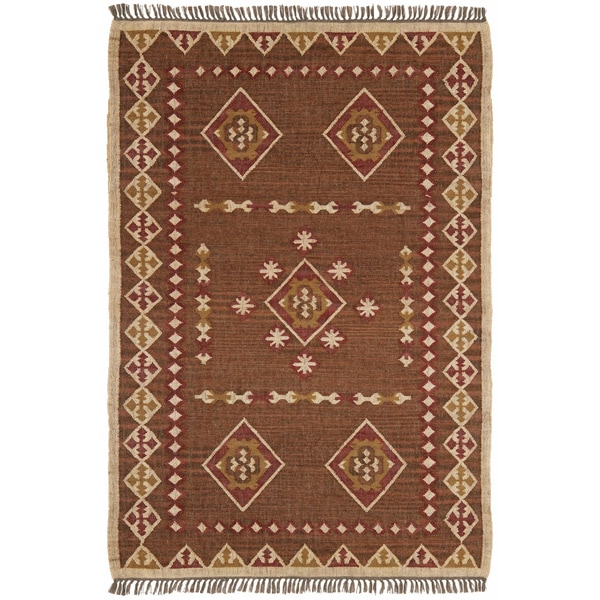 Hand Woven Bradford Jute and Wool Flat Weave Rug - 9' x 12'