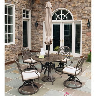Floral Blossom Taupe 5-piece Dining Set by Home Styles