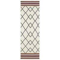 Flatweave TriBeCa Ziggy Grey Wool Rug - 2'6 x 8'
