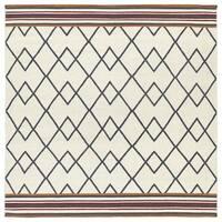 Flatweave TriBeCa Ziggy Grey Wool Rug - 8' x 8'