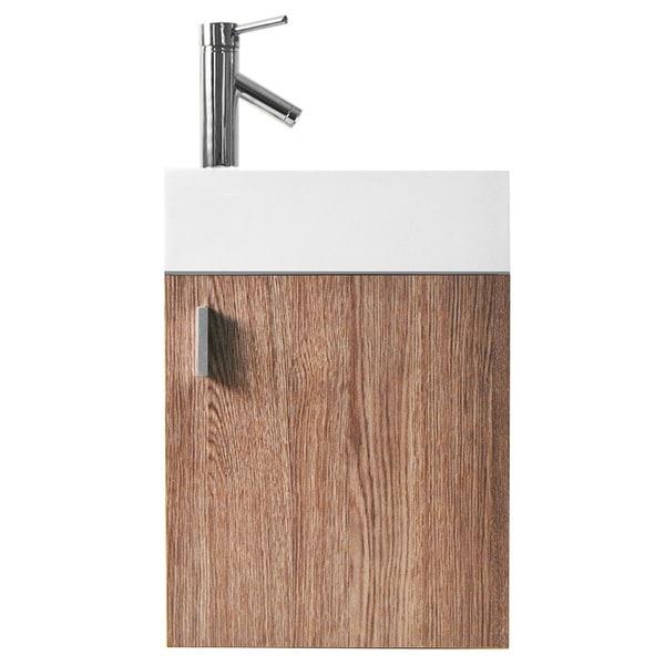 virtu usa carino 16-inch single sink bathroom vanity set - free