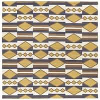 Flatweave TriBeCa Mustard Wool Rug - 8' Square