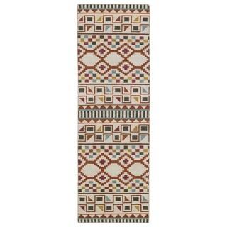 "Flatweave TriBeCa Paprika Wool Rug - 2'6"" x 8'"