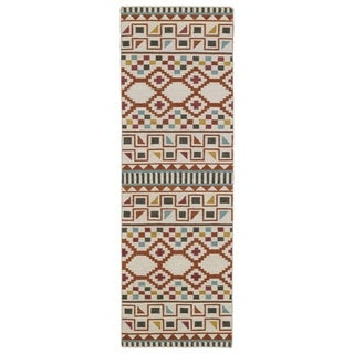 Flatweave TriBeCa Paprika Wool Rug (2'6 x 8')
