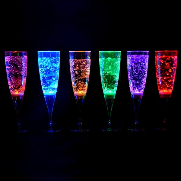 Publiclight magic led lighting champagne flutes set of 6 free shipping on orders over 45 - Flute a champagne led ...