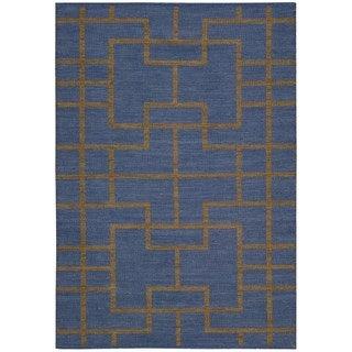 Barclay Butera Maze Ocean Area Rug by Nourison (3'6 x 5'6)