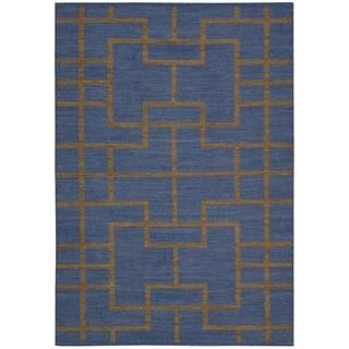 Barclay Butera Maze Ocean Area Rug by Nourison (7'9 x 10'10)