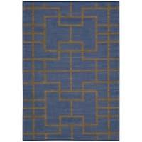 Barclay Butera Maze Ocean Area Rug by Nourison - 7'9 x 10'10