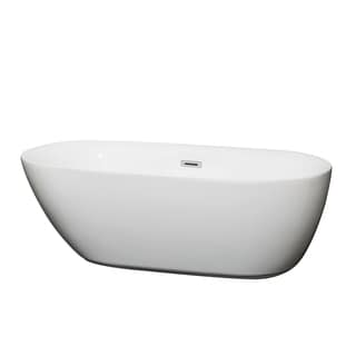 Wyndham Collection Melissa 65-inch White Soaking Bathtub