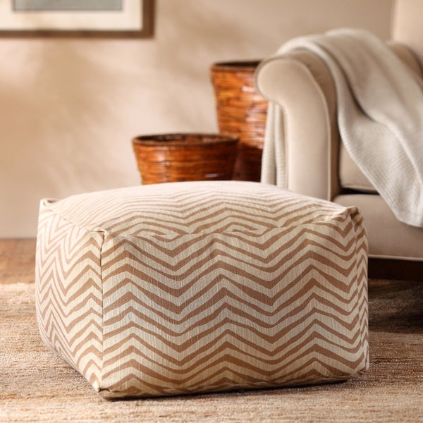 Madison Park Anaei Large Square Pouf