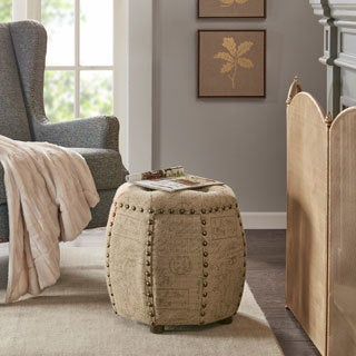 Madison Park Brianna Octagon Tufted Ottoman