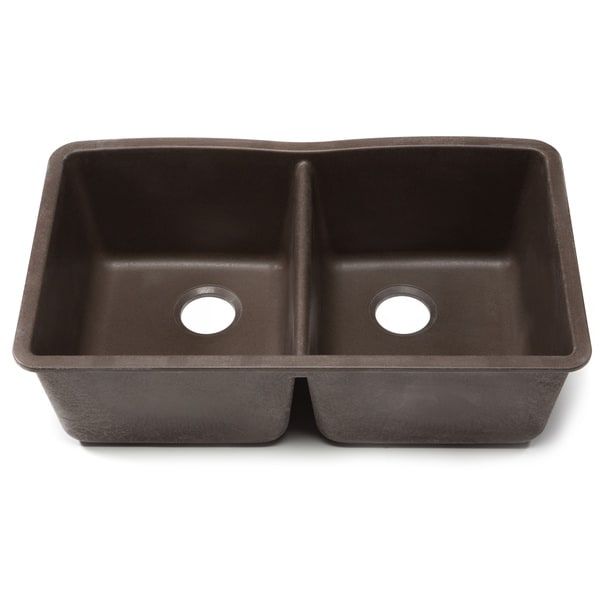 blanco silgranit diamond cafe brown undermount double bowl kitchen sink free shipping today. Black Bedroom Furniture Sets. Home Design Ideas