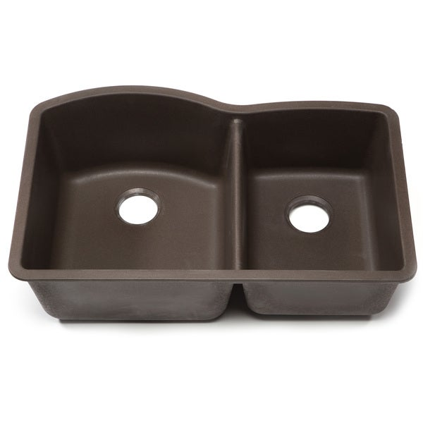 Shop Blanco Silgranit Diamond Cafe Brown 1-3/4 Undermount Double ...
