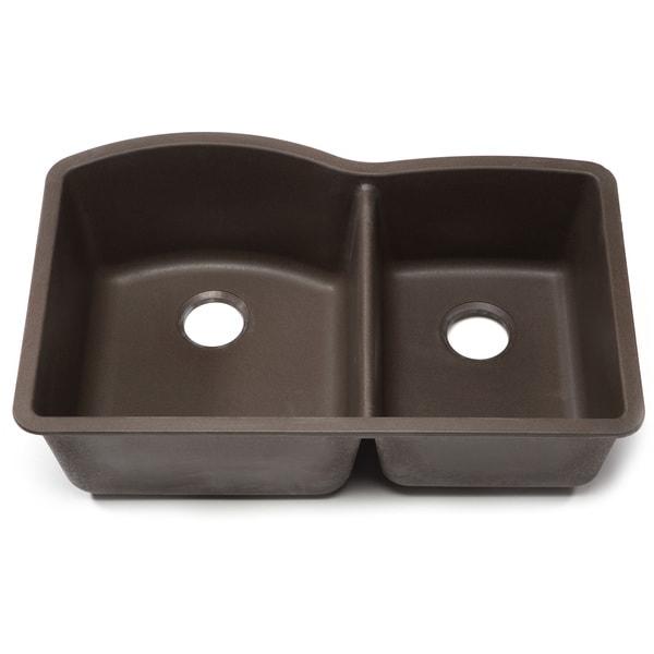 Blanco Silgranit Diamond Cafe Brown 1-3/4 Undermount Double Bowl Kitchen Sink