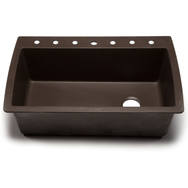 Blanco Silgranit Kitchen Sinks : ... Silgranit Diamond Cafe Brown Dual Mount Super Single Bowl Kitchen Sink
