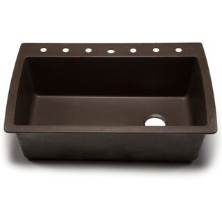 Blanco Silgranit Diamond Cafe Brown Dual Mount Super Single Bowl Kitchen Sink