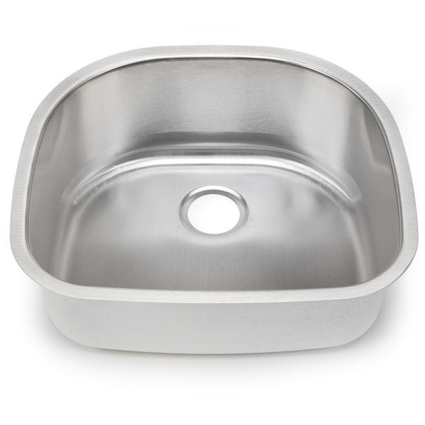 Blanco Stellar 18-gauge Steel D-shaped Single Bowl Kitchen Sink
