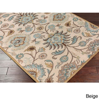 Hand-tufted Alameda Traditional Floral Wool Area Rug (3'6 x 5'6) (2 options available)