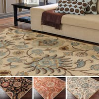 Hand-tufted Alameda Traditional Floral Wool Area Rug