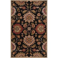 Remi & Cabot Alameda Traditional Floral Wool Handmade Area Rug (8' x 10')