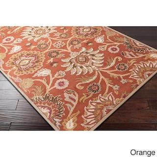 Hand Tufted Alameda Traditional Fl Wool Area Rug 3 6 X 5