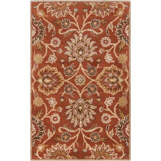 Hand-tufted Alameda Traditional Floral Wool Area Rug - 9' x 12'
