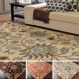 Hand Tufted Alameda Traditional Fl Wool Area Rug 9 X 12