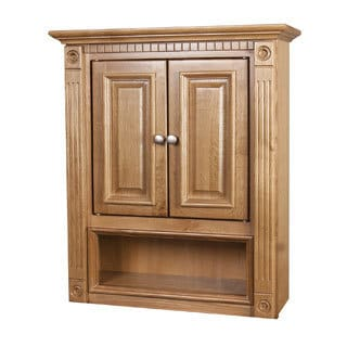 2-door Heritage Oak Bathroom Wall Cabinet