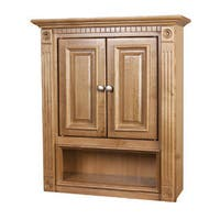 2-door Oak Bathroom Wall Cabinet