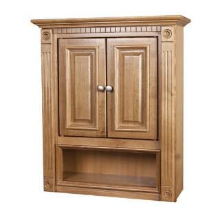 2-door Oak Bathroom Wall Cabinet