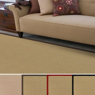 Hand-woven Contra Casual Bordered Area Rug (4' x 6')
