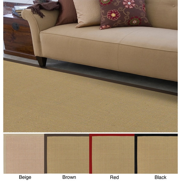 Remi & Cabot Handmade Contra Cotton/Sisal Casual Bordered Area Rug (9' x 12')