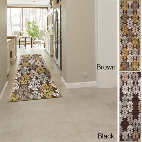 Hand-woven Damask Fremont Abstract Area Rug