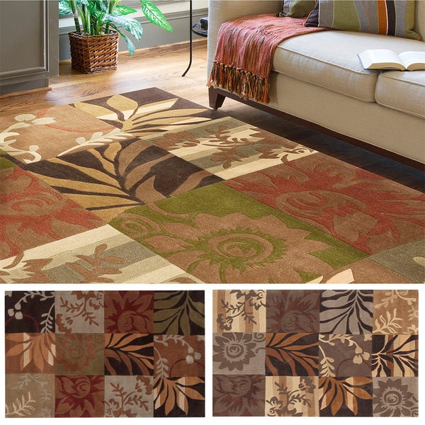 Hand-tufted Solano Transitional Floral Area Rug (8' x 10')