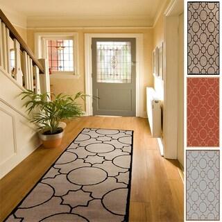 Hand-tufted Elbert Contemporary Geometric Wool Runner Area Rug