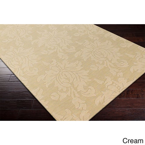 Hand-loomed Tone-on-Tone Otero Floral Wool Area Rug