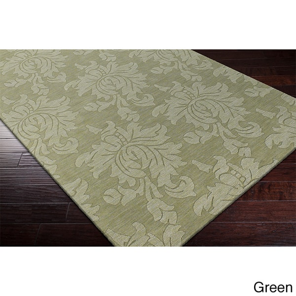 Hand Loomed Tone On Tone Otero Floral Wool Area Rug 9 X 12 On Sale Overstock 8695054 9 X 12 Red