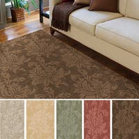 Hand-loomed Tone-on-Tone Otero Floral Wool Area Rug (9' x 12') - 9' x 12'