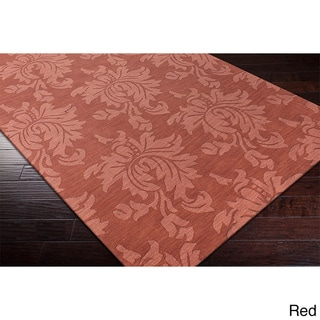 Hand-loomed Tone-on-Tone Otero Floral Wool Area Rug (9' x 12')