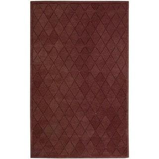 Hand-tufted Modern Elegance Cranberry Wool Area Rug (3'6 x 5'6)