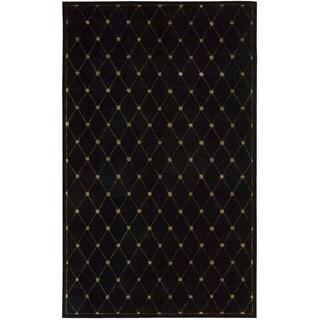 Hand-tufted Modern Elegance Black Wool Rug (5'6 x 7'5)