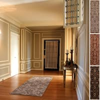 Hand-tufted Alameda Traditional Floral Wool Runner Rug (2'6 x 8')