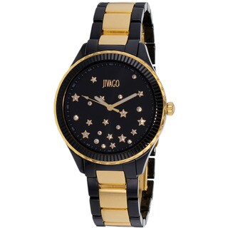 Jivago Women's Sky Quartz Black Dial Watch